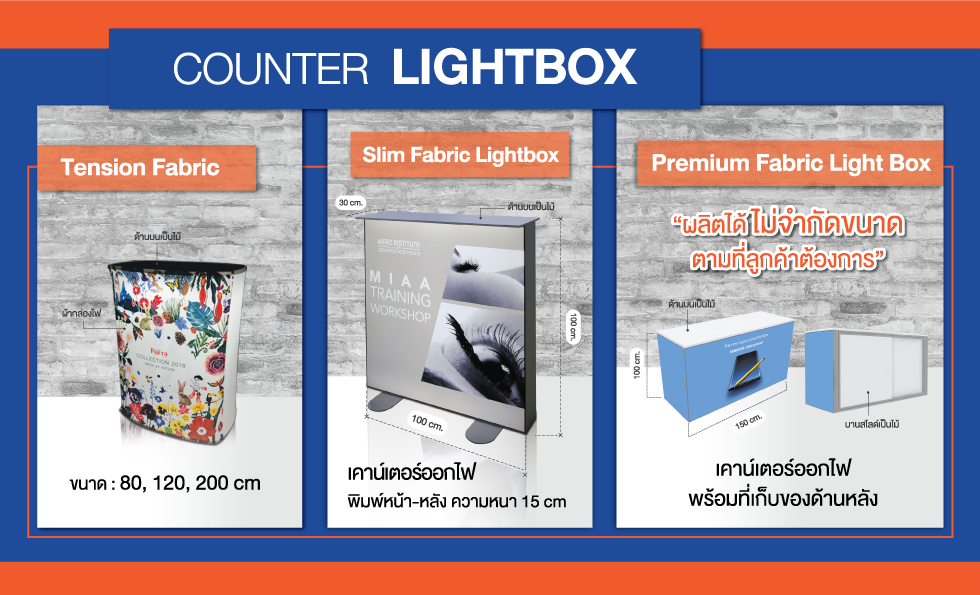 counter lightbox