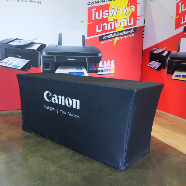 ผ้าคลุมโต๊ะ ผลงาน canon